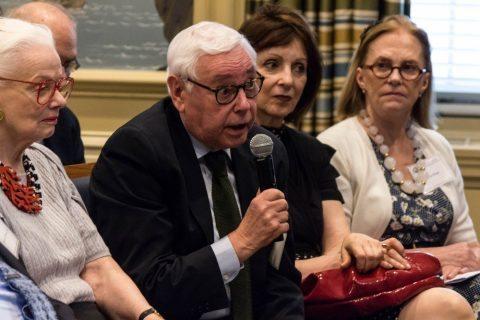 NCAFP President Emeritus Dr. George Schwab asks a question