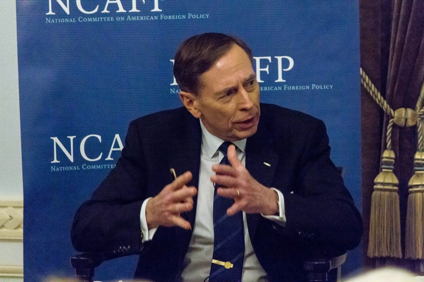 General Petraeus makes a point