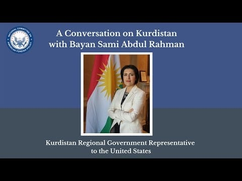 Watch: A Conversation on Kurdistan