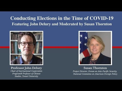 Watch: Conducting Elections in the Time of COVID-19